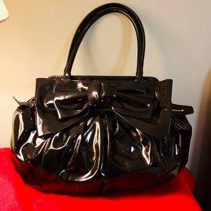 Valentino Lacca Ruched Bow Handbag